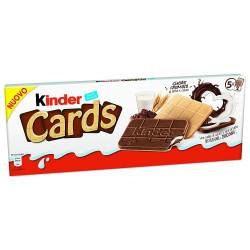 Kinder Cards Biscotto Ripieno al Latte e Cacao 5 Astucci da 2 Biscotti Ciascuno 128 Grammi