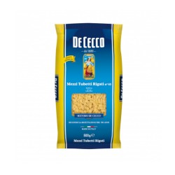 Mezzi Tubetti Rigati N 65 De Cecco Confezione da 500 Grammi