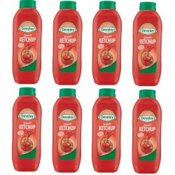 Multipack 8 Develey Ketchup Tomato Classic Squeeze from 875 Milliliters