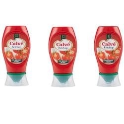 Multipack da 3 Calve' Ketchup Tomato Classico in Confezione da 250 Milliliters / 275 Grammi Ciascuno