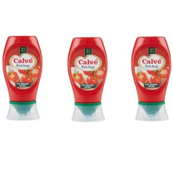 Multipack of 3 Calve 'Ketchup Classic Tomato in 250 Milliliter Pack