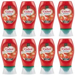 Multipack da 8 Calve' Ketchup Tomato Classico in Confezione da 250 Milliliters / 275 Grammi Ciascuno