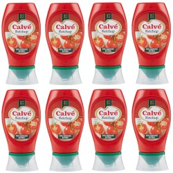 Multipack of 8 Calve 'Ketchup Classic Tomato in 250 Milliliter Pack