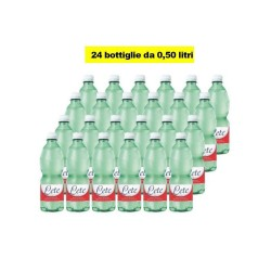 24 Bottiglie di Acqua Lete Minerale Effervescente Naturale da 0,50 Litri Ciascuna