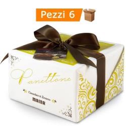 Multipack da 6 Panettoni Maina ''Cioccolato & Zenzero'' Confezioni da 750 Grammi Ciascuno