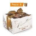 Multipack da 6 Panettoni Maina ''Cioccolato & Amaretto'' Confezioni da 750 Grammi Ciascuno