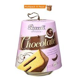 Multipack da 8 Confezioni di Bauli Pandoro Chocolate Da 750 Grammi Ciascuno