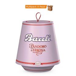 Multipack da 8 Confezioni di Bauli Pandoro di Verona Classico Da 1 kg Ciascuno