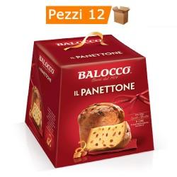 Multipack da 12 Panettoni Classici Balocco in Confezione da 1 Chilogrammo Ciascuno