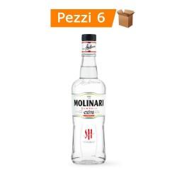 Multipack 6 Bottiglie di Molinari Sambuca Extra Liquore da 700 Millilitri Ciascuna