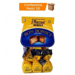Praline Borsci al Cioccolato Ripiene Al Liquore San Marzano Grammi 200 Bon Borsci Multipack 10 Pezzi