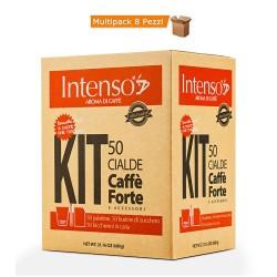 Multipack da 8 Confezioni di Intenso Aroma di Caffè Forte 50 Cialde + Kit