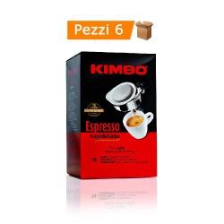 Kimbo Espresso 6 Confezioni da 18 Cialde 100% Napoletano - 108 Cialde Totali
