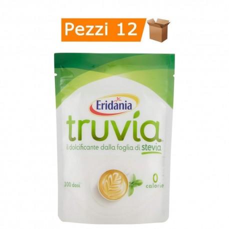 Multipack da 12 Confezioni di Dolcificante Truvia dalla Foglia di Stevia da 150 Gr Ciascuno