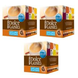 Multipack da 3 Nescafè Dolce Gusto Lungo Decaffeinato - 48 Capsule Totali
