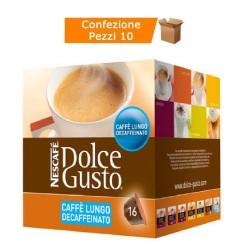 Multipack da 10 Nescafè Dolce Gusto Lungo Decaffeinato - 160 Capsule Totali