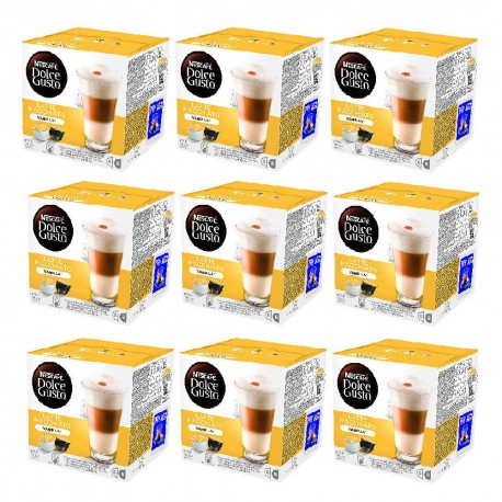 Multipack da 9 Nescafè Dolce Gusto Latte Macchiato alla Vaniglia - 144 Capsule Totali