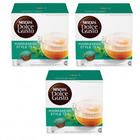 Multipack da 3 Nescafè Dolce Gusto Marrakesh Style Tea Tè Verde Aromatizzato - 48 Capsule Totali