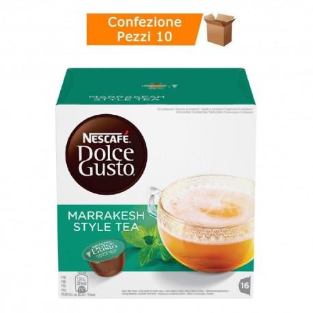 Multipack da 10 Nescafè Dolce Gusto Marrakesh Style Tea Tè Verde Aromatizzato - 160 Capsule Totali