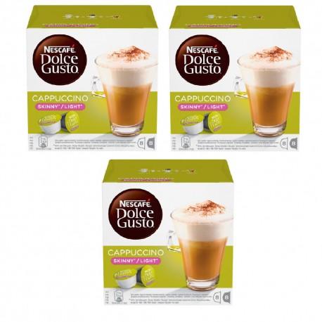 Multipack da 3 Nescafè Dolce Gusto Cappuccino Skinny Light - 48 Capsule Totali