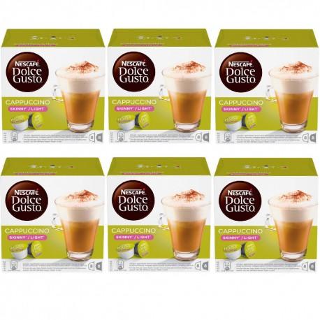 Multipack da 6 Nescafè Dolce Gusto Cappuccino Skinny Light - 96 Capsule Totali
