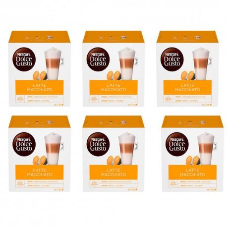 Multipack da 6 Nescafè Dolce Gusto Latte Macchiato - 96 Capsule Totali ( 48 Tazze )