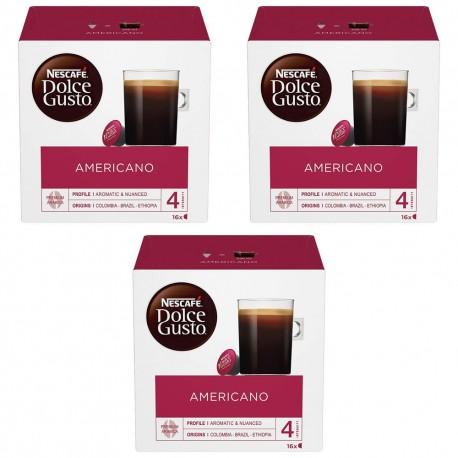 Multipack da 3 Nescafè Dolce Gusto Americano - 48 Capsule Totali
