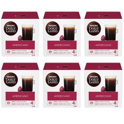 Multipack da 6 Nescafè Dolce Gusto Americano - 96 Capsule Totali