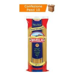 Multipack da 10 Confezioni di Divella Specialità Ziti 2 - Pacchi da 500 Grammi Ciascuno