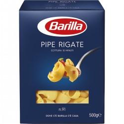 BARILLA I Classici Pipe Rigate N. 91 Cottura 10 Minuti   500 Grammi