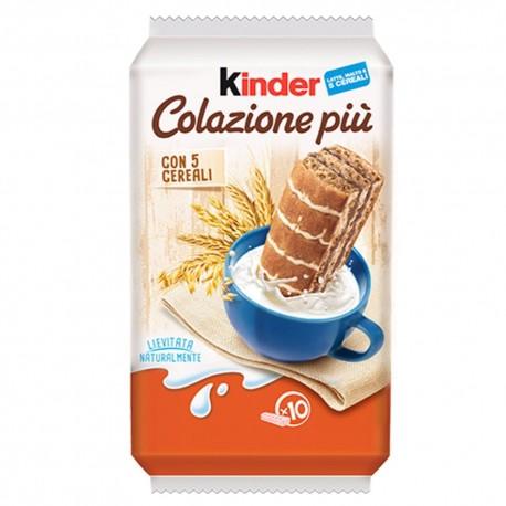 Ferrero Kinder Colazione Piu' Confezione Da 10 Merendine 290 gr Mix Di 5 Cereali