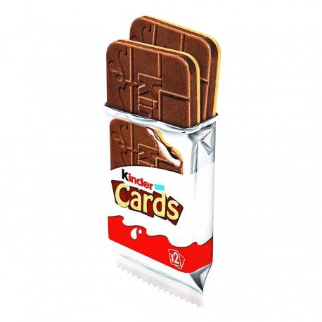 Kinder Cards Biscotto Ripieno al Latte e Cacao Multipack da 20 Confezioni da 5 Astucci Ciascuna