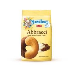 Abbracci Mulino Bianco con Cacao e Panna Fresca Confezione da 350 Grammi