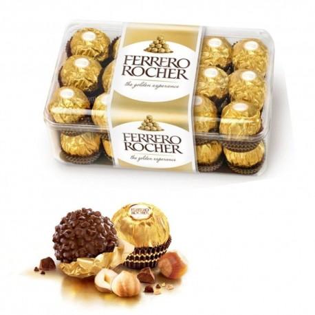 Ferrero Rocher Confezione In Scatola Da 30 Cioccolatini 375 Grammi