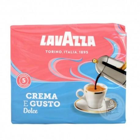 Lavazza Caffe' Crema E Gusto Delicato Dolce 2 Confezioni Da 250 Grammi