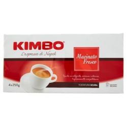 Kimbo Macinato Fresco Caffe' Macinato Per Moka Confezione Da 4x250 Grammi