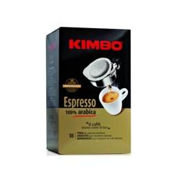 Kimbo Espresso 100% Arabica Caffe' In Cialde Confezione Da 18 Cialde 125 Grammi