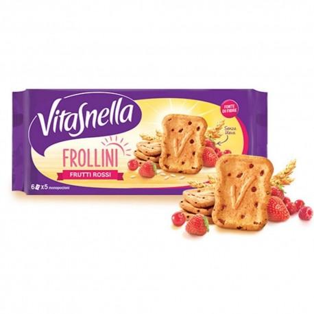 Vitasnella Frollini Ai Frutti Rossi In Confezione Da 6 Monoporzioni Da 6 Frollini Ciascuna - 270 Grammi