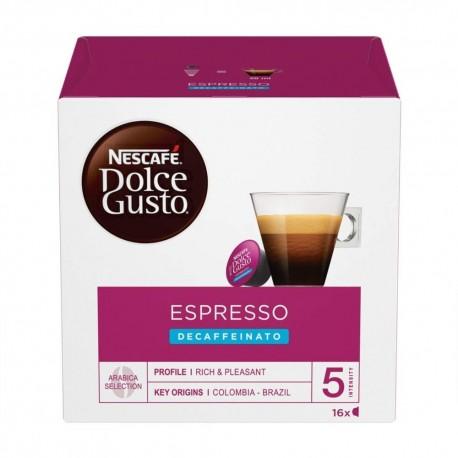 Nescafe' Dolce Gusto Espresso Decaffeinato Caffe' In Capsule In Confezione Da 16 Capsule