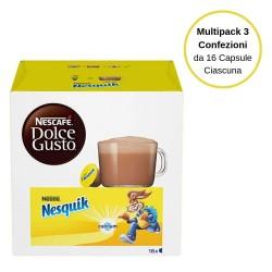 Nescafe' Dolce Gusto Nesquik Latte Al Cioccolato In Capsule Multipack Da 3 Confezione Da 16 Capsule Ciascuna
