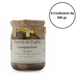 Tocchi di Puglia Lampascioni in Olio Extra Vergine di Oliva Multipack da 6 Confezioni da 500 grammi