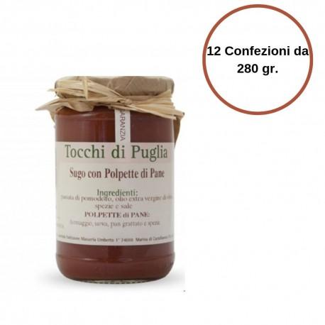 Tocchi di Puglia Sugo con Polpette di Pane Multipack da 12 Confezioni da 280 grammi