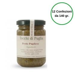 Tocchi di Puglia Pesto Pugliese in Vasetto Multipack 12 Confezioni da 140 grammi