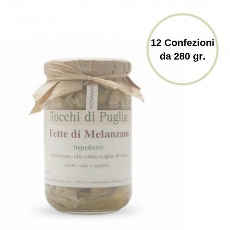 Tocchi di Puglia Fette di Melanzane in Olio Extra Vergine di Oliva Multipack 12 Confezioni da 280 grammi