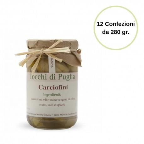 Tocchi di Puglia Carciofini in Olio Extra Vergine di Oliva Multipack 12 Confezioni da 280 grammi