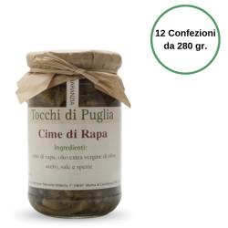 Tocchi di Puglia Cime di Rapa in Olio Extra Vergine di Oliva Multipack 12 Confezioni da 280 grammi