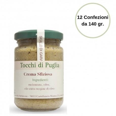 Tocchi di Puglia Crema Sfiziosa in Vasetto Multipack 12 Confezioni da 140 grammi