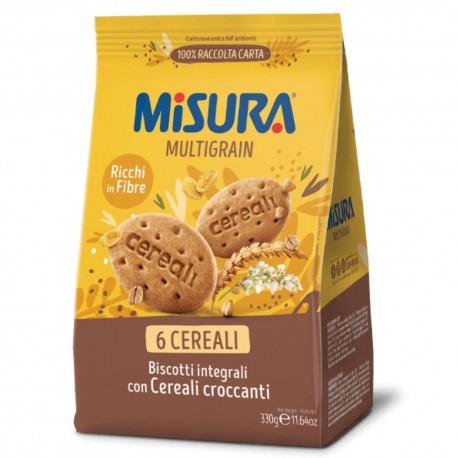 Misura Multigrain Biscotti Integrali Con 6 Cereali Croccanti In Confezione Da 330 Grammi