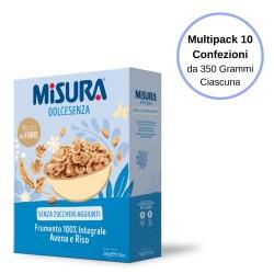 Misura Dolcesenza Cereali Frumento 100% Integrale Riso E Avena Multipack Da 10 Confezioni Da 350 Grammi Ciascuna