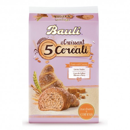 Bauli Croissant Ai 5 Cerali Con Zucchero Di Canna In Confezione Da 6 Croissant - 240 Grammi Totali
